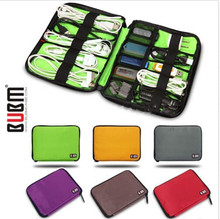 Modern Design BUBM 6 Colors Cable Organizer Bag Case Purse Can Put USB Flash Drive Hard