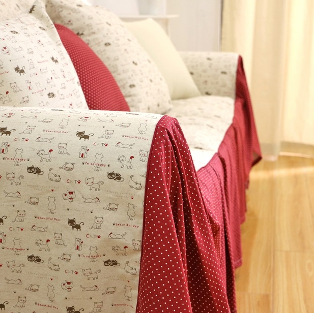 The new European and American country * * cotton and linen high-taste sofa towel/sofa cover