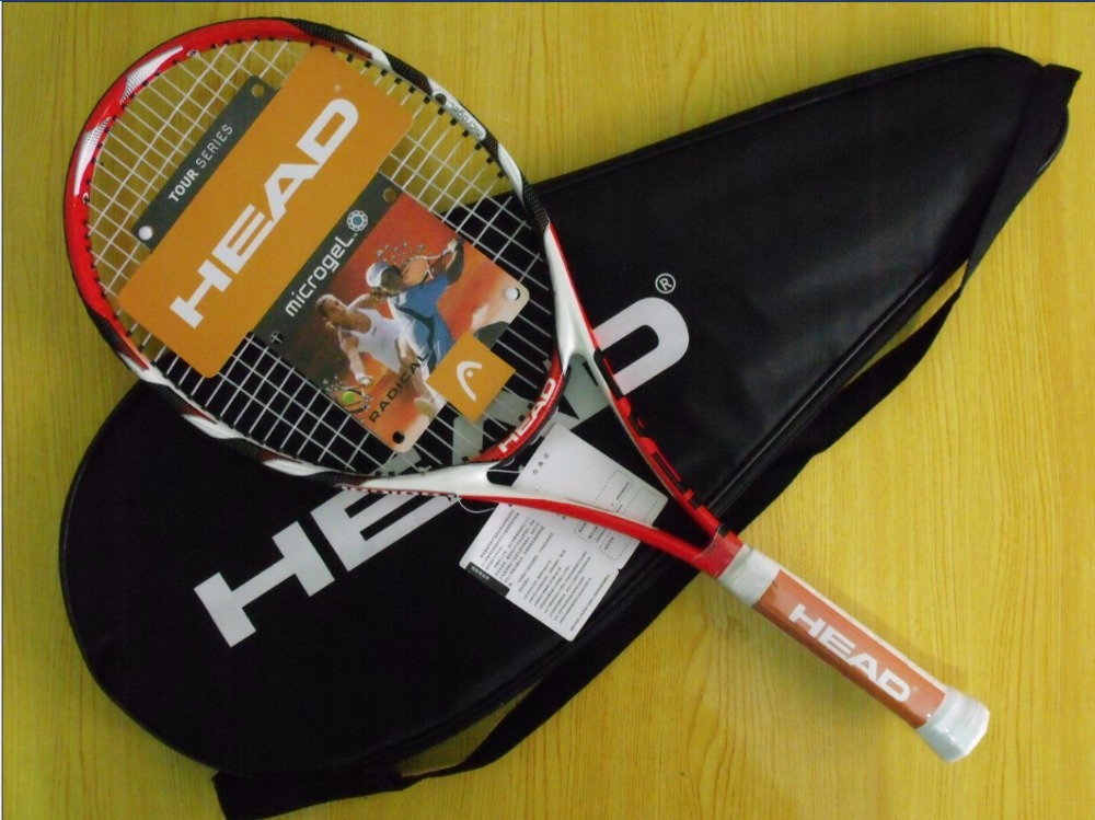 Free shipping High qualityL4 tennis racket head Professional Carbon fiber tennis racket Nylon string breaks size