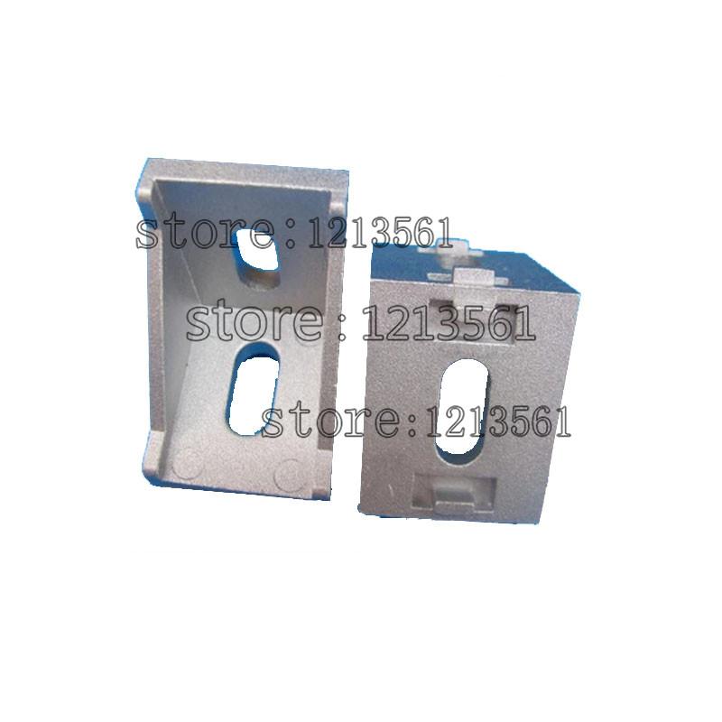 20pcs 2020 corner fitting angle aluminum 20 x 20 L connector bracket fastener match use 2020 industrial aluminum profile(China (Mainland))