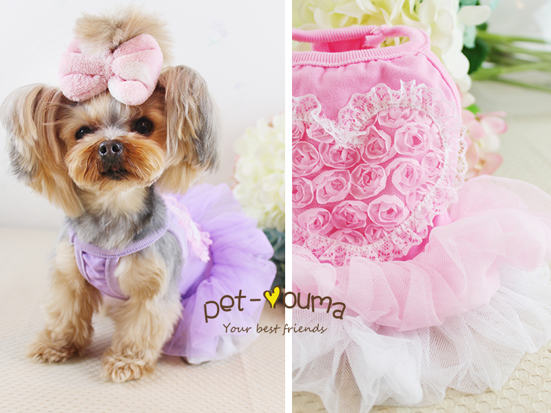 Lace Rose Flower decoration Fair Cute Elegant Pet clothes Products for Cats Dog clothes Dog Hoodies Little Animal 100024(China (Mainland))