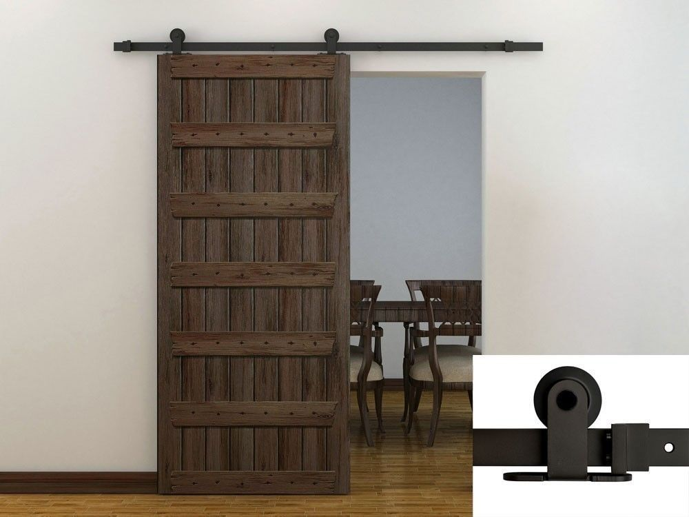 European Style Barn Wood Sliding Door Hardware Track Set In Doors