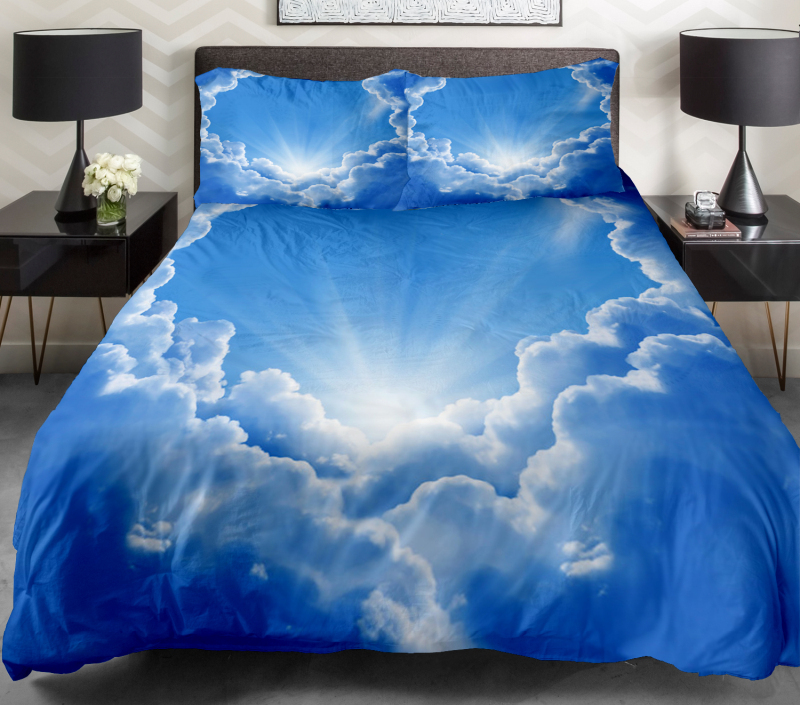 Luxury bedding sets the gift ideas set 2 sides printing space quilt