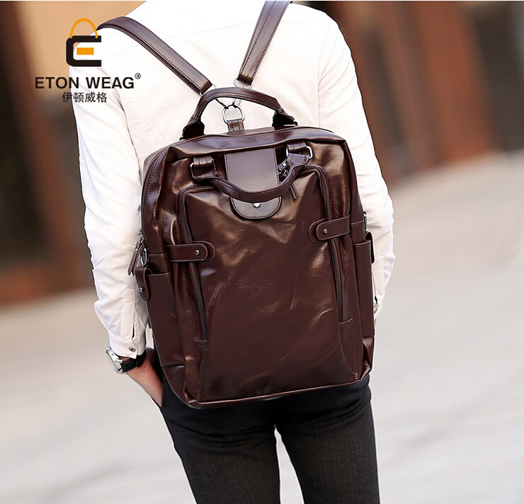 England Style Vintage Men Backpacks, Retro Male Leather Backpack, Large Size Women Casual Shoulder Bags, Fashion Back Packs(China (Mainland))