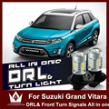 Night Lord For Suzuki Grand Vitara SX4 7440 WY21W T20 LED double color DRL Front Turn