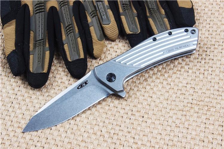 Buy New tactical folding knife outdoor camping hunting life-saving bag D2 blade EDC hand tools ZT0801 Free Shipping cheap