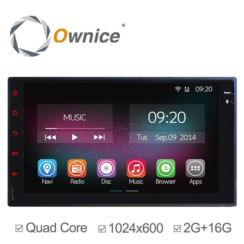 7 HD Android 4.4 Full Touch Panel GPS Navigation Car DVD Player 2 Din Universal Quad Core Car PC Headunit In Dash Video 2G RAM<br>