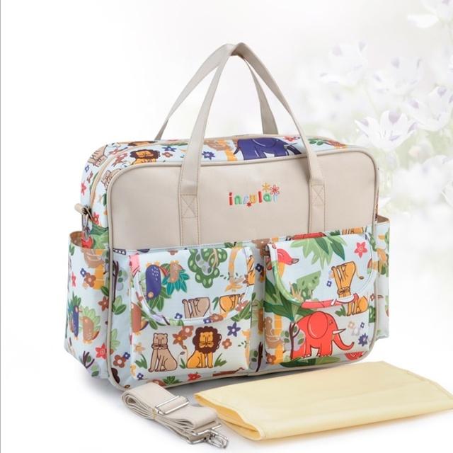 Многоцветный пеленки на ремне сумки высокое качество беременным мать коляска мумия ...
