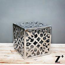 Modern decoration Metal made chair Polished Aluminum free shipping(China (Mainland))