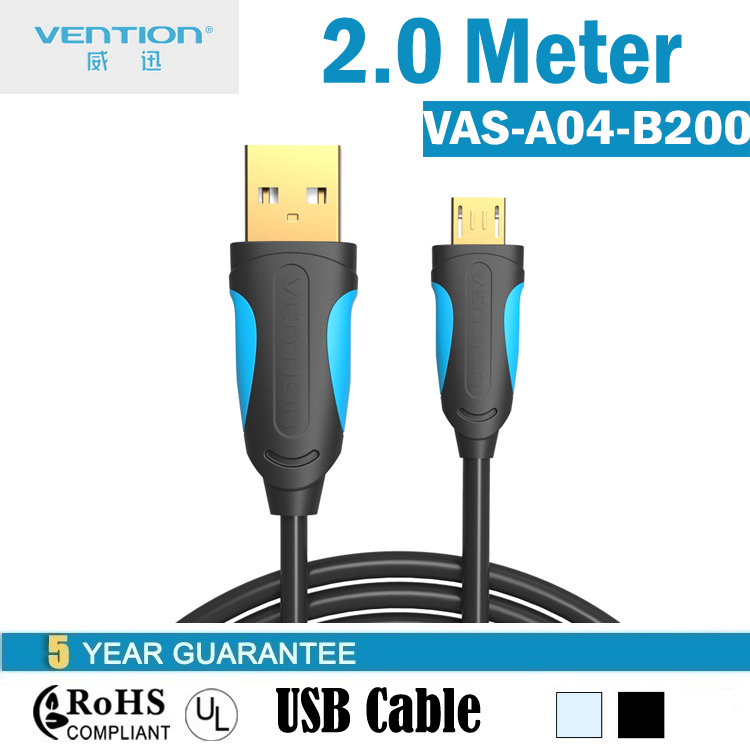 Vention Micro USB Cable Mobile Phone Cables 2M 2.0 Data sync Charger cable For Samsung,HTC,Huawei #VAS-A04-S200(China (Mainland))