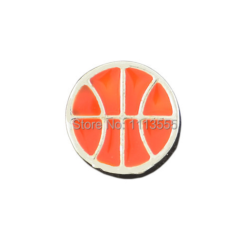F089 hot sale fashion alloy silver jewelry Orange football floating charms for memory glass locket 20pcs/lot(China (Mainland))