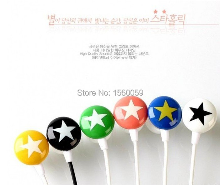 Chocolate Stars Candy Headphone In-ear Earphone for MP3 Players earbud headset lovely cute special(China (Mainland))