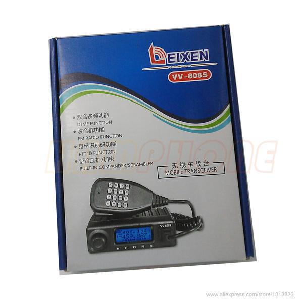2pcs Original LEIXEN VV-808S walkie talkie Ham Car Mobile Radio Transceiver 400~470MHz 60W FM 87.5~108MHz199CH DTMF+microphone(China (Mainland))