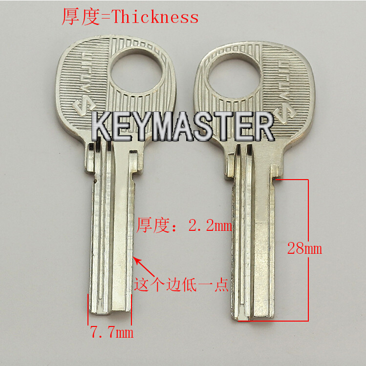 B286 Right Groove Blank Key For House Door Lock Keys With a Small Left Groove<br><br>Aliexpress