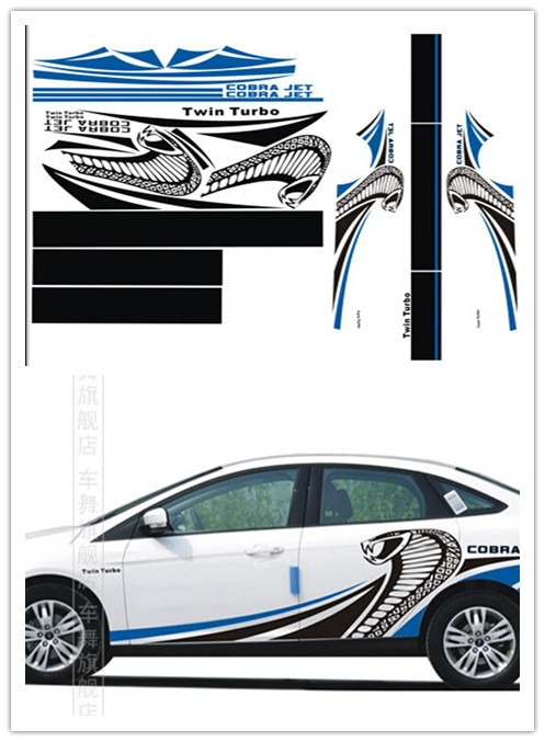 Ford Service Decals : Car accessories stickers for ford focus full body
