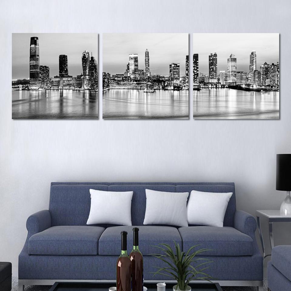 salon moderne noiretblanc. Black Bedroom Furniture Sets. Home Design Ideas