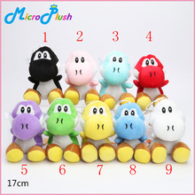 100pcs/lot 17cm Super Mario Plush Toy 7inch yoshi Plush Doll Figure Toy 9 colors yoshi green black red yellow(China (Mainland))