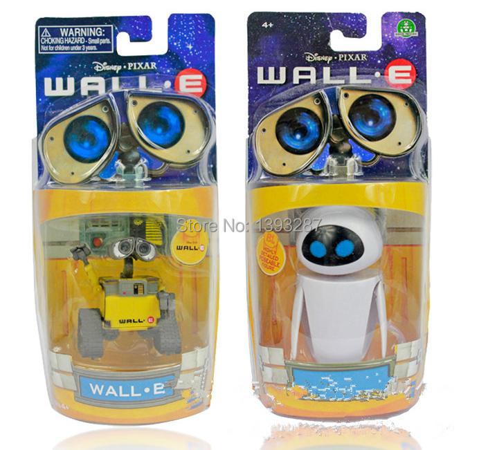 Free Shipping Hot Sale WALL-E robot models  Wall-E & Eve  little cute toys(China (Mainland))