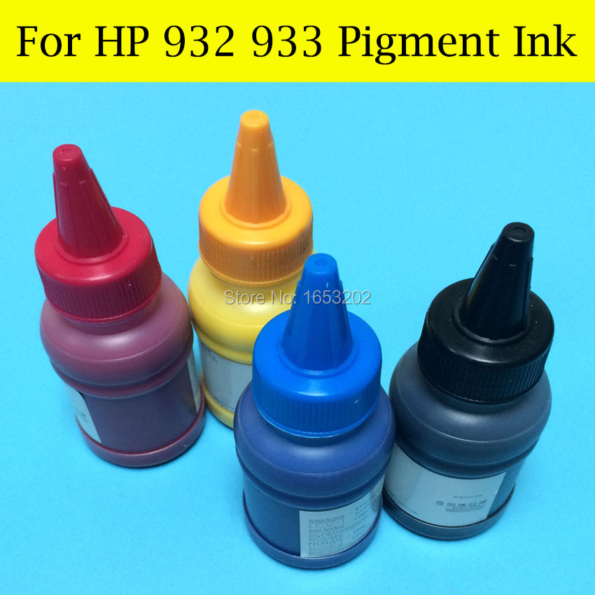 4 Pieces/Lot For HP 932 933 Pigment Ink Refill Kit For HP 932XL 933XL Ink Cartridge<br><br>Aliexpress