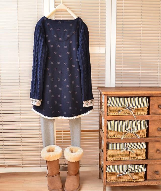 ฤดูหนาวคริสต์มาสกวางยาวเสื้อผู้หญิงขนาดบวกผู้หญิงหลวมท็อปส์กำมะหยี่อบอุ่น4068 ถูก