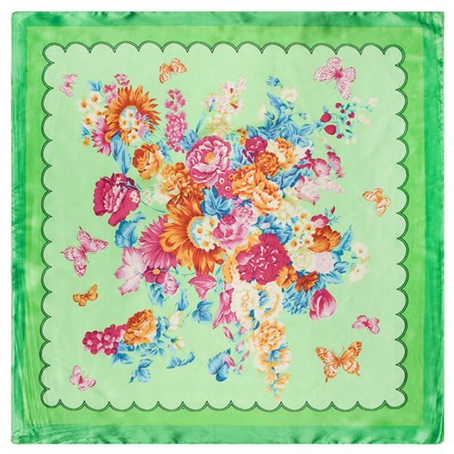 60 см * 60 см летние и осенние модели дикий цветок бабочка женщины площадь шелка небольшой шарф карьера
