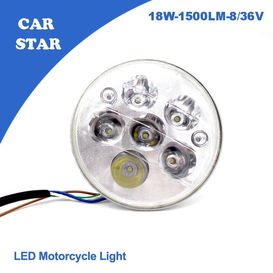 THE NEW 2015 1 PCS Universal OSRAM 45U LED Motorcycle Headlight 8-36V 18W 1500LM  High/Low Conversion For Harley  free shippping<br><br>Aliexpress