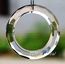 10PCS 60mm Big O Ring Round Crystal Prisms Sun Catcher Free Shipping(China (Mainland))