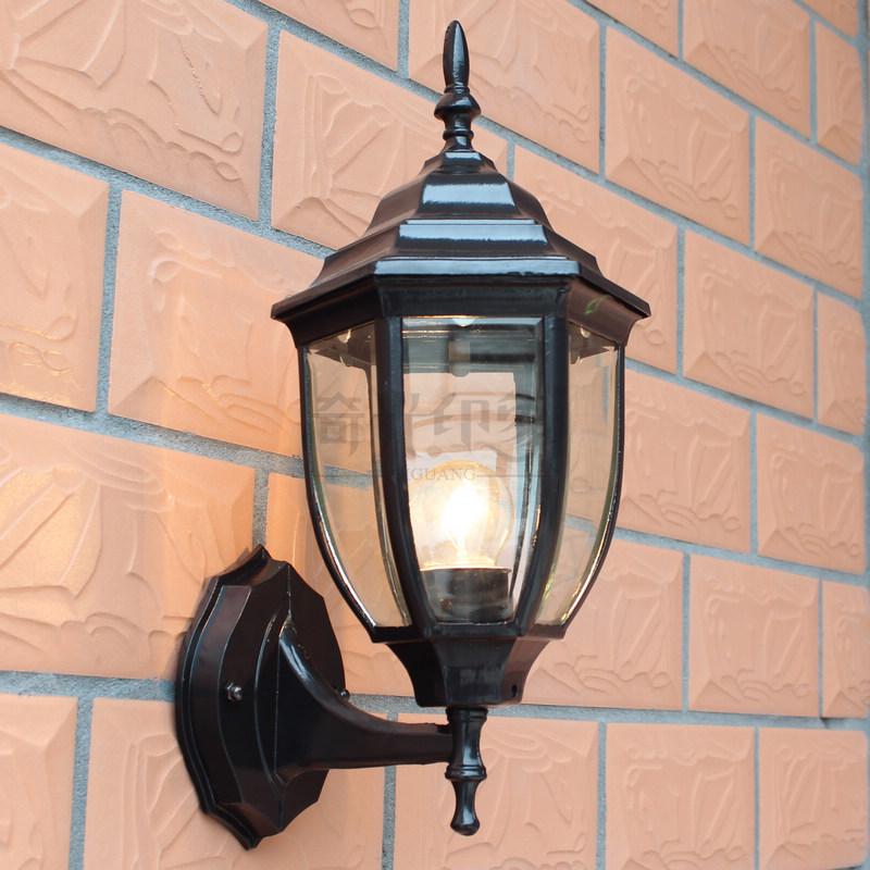 Fashion outdoor wall lamp modern brief outdoor balcony waterproof lighting fitting iron aisle lights wall lights(China (Mainland))