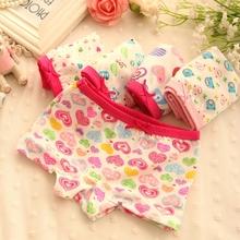 2015 New Fashion 4 Pcs Cotton Children Panties Girls Briefs Female Child Underwear Lovely Cartoon Panties