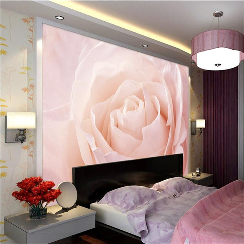 beibehang Wallpaper 3D Stereo Big Pink Rose Art Living Room Sofa Bedroom Silver Silver Cloth Fresco Home Decoration wall papers(China (Mainland))