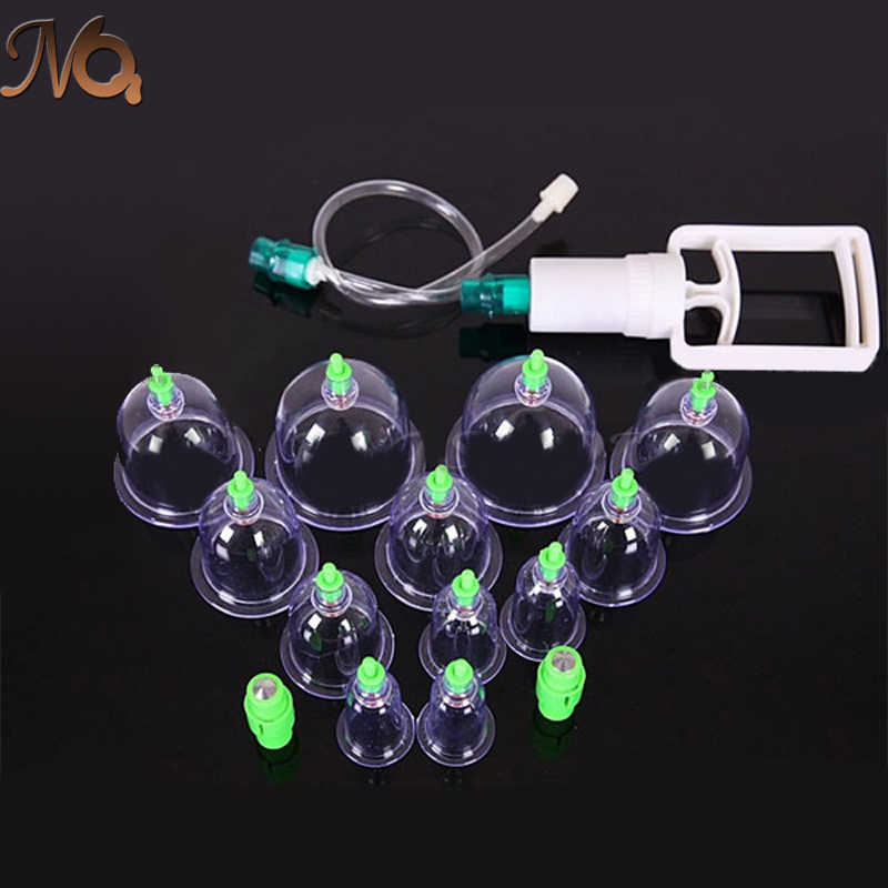 12pcs 1 Set Chinese Health care Medical Vacuum Body Cupping Set Portable Massage Therapy Kit body relaxation healthy Massage set(China (Mainland))