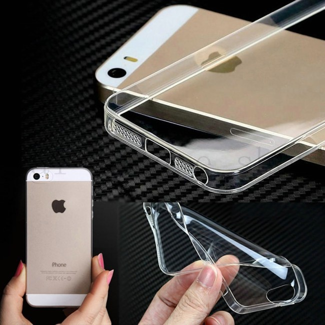 Ultra Thin Silicon Soft High Clear Case for Iphone 5 5S 5G Crystal Clear TPU phone Cases Cover For IPhone 5S Case(China (Mainland))
