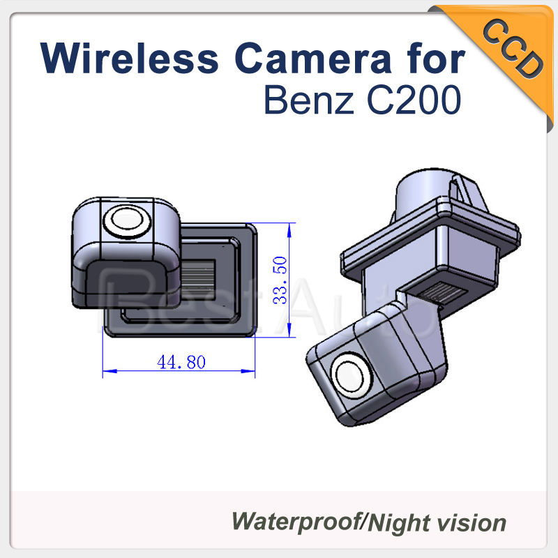 For BENZ C200 HD CCD Car backup Camera, Reverse Parking car camera Security(China (Mainland))