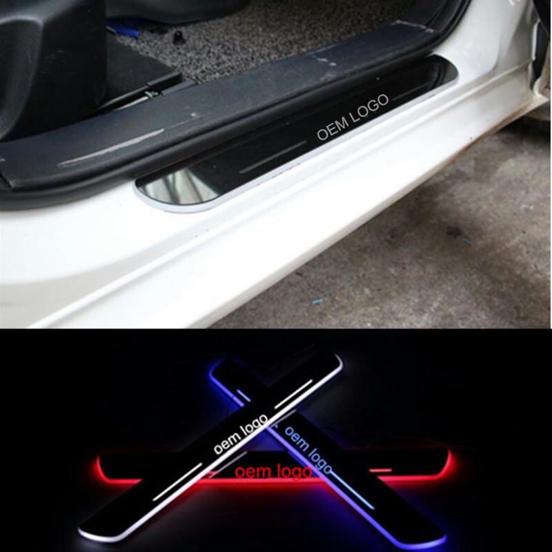 LED door scuff plate light HONDA CRV 2012-2015 moving 2007-2011 pedal