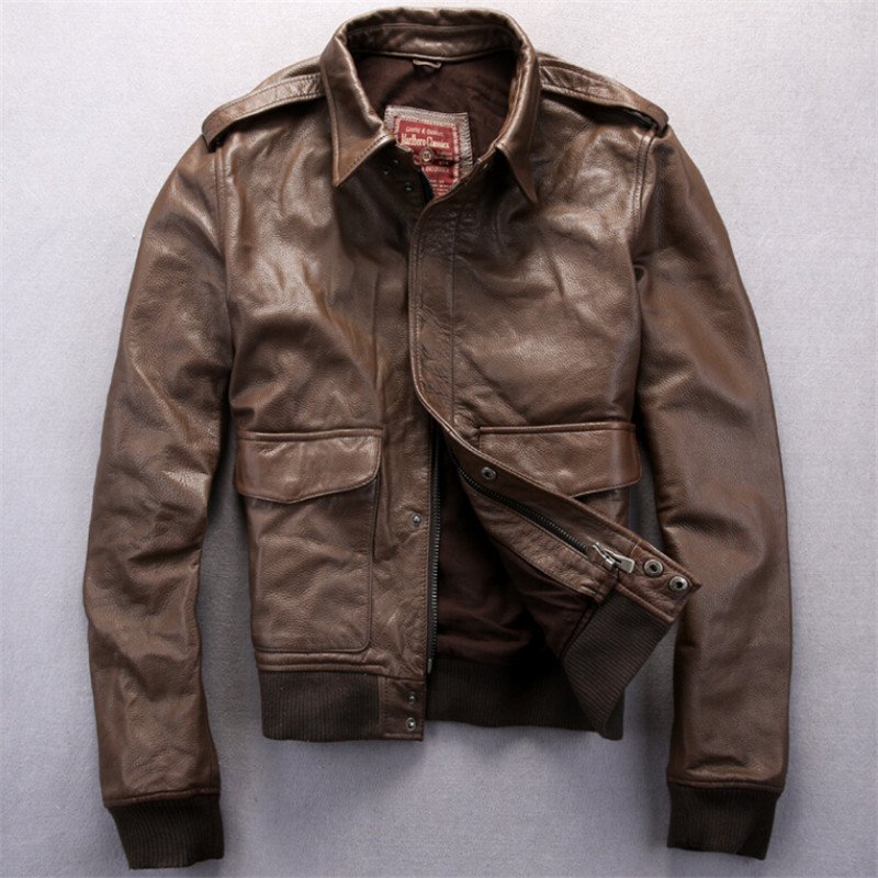 US Air Force pilots flying suit Genuine leather jacket ...