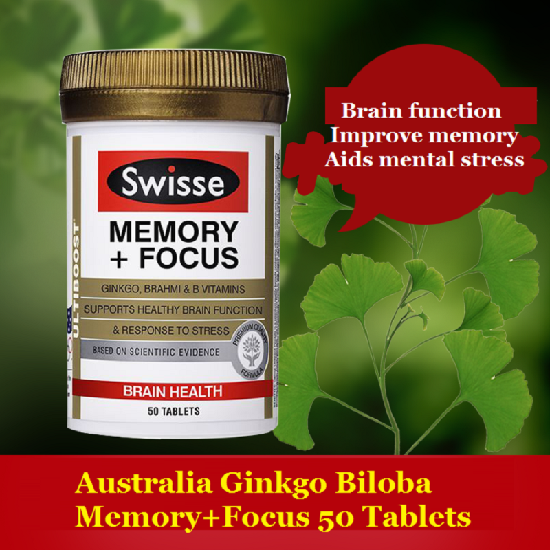 Australia Ginkgo Biloba Tablets Memory+Focus to support brain function improve memory & cognitive function, Aids mental stress(China (Mainland))
