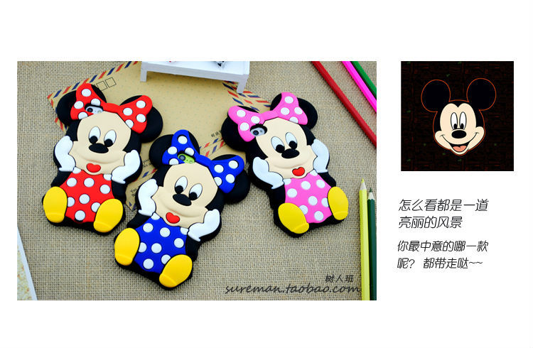 2014 Lovely Cute Cartoon Mickey Mouse Minnie 3D Soft Rubber Silicone Cover Case iPhone 5 5g 5S - Pistachio Electronics Co., Ltd. store