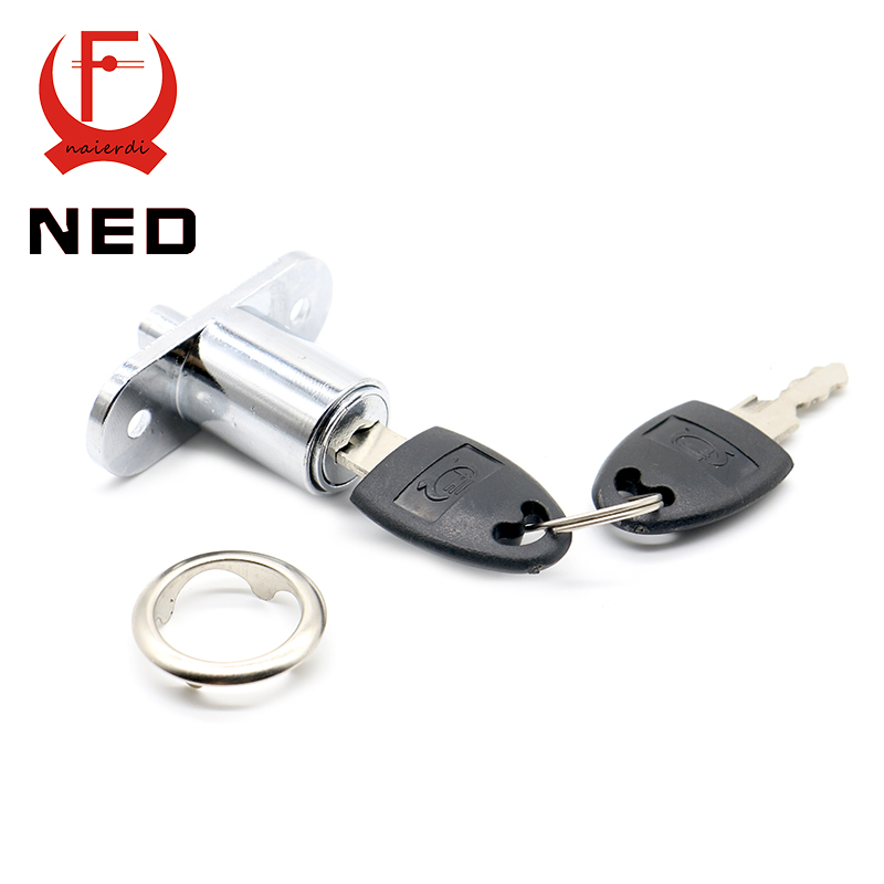 NED105-23 Plunger Lock Push Lock With 2 Key For Sliding Glass Door Showcase Lock Furniture Cabinet Lock 23mm Thickness Hardware(China (Mainland))