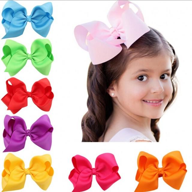 1 ШТ. Детские hairbows Ленты лук зажим для волос для девочек зажим для волос Девушки ...
