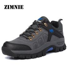 Suede Leather Outdoor Hiking Shoes Men & Women Autumn Shock Absorption Breathable Walking Climbing Brand Quality Trekking Shoes