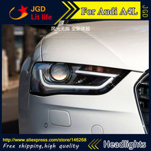 Buy Free shipping ! Car styling LED HID Rio LED headlights Head Lamp case for Audi A4L 2013-2016 Bi-Xenon Lens low beam for $686.28 in AliExpress store