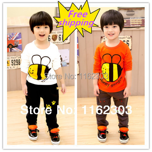 Valentine's day gifts/autumn children's clothing/bees long sleeve brand girl/boy's t shirt / European and American style(China (Mainland))