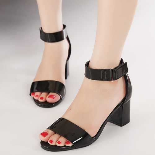 Ankle Strap Sandals Low Heel | Fs Heel