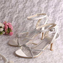 (15 Colors)Very Beautiful Ladys Sandal Wedding Shoes Crystal Sandal Med Heel Free Shipping Dropship(China (Mainland))