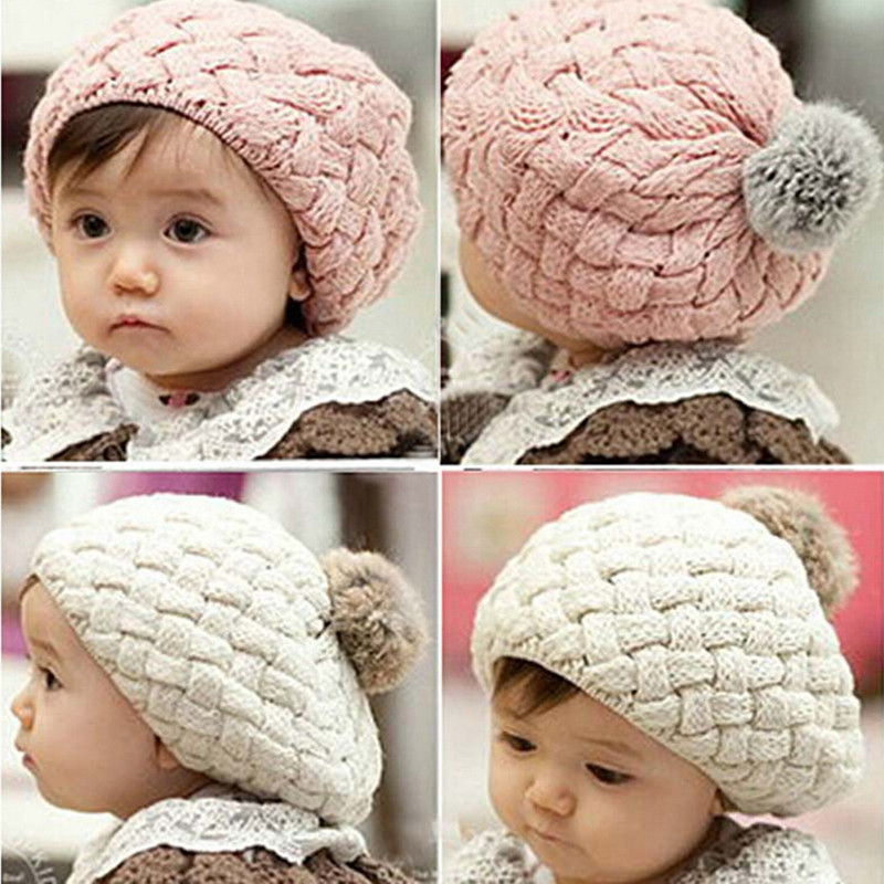 Lovely baby hat kids baby photo props beanie,faux rabbit fur gorros bebes crochet beanie toddler cap for 4 months to 3 years old(China (Mainland))
