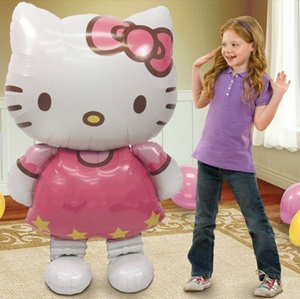 116*65cm and 80*48cm Oversized Hello Kitty Cat foil balloons cartoon birthday decoration foil party inflatable air balloons(China (Mainland))
