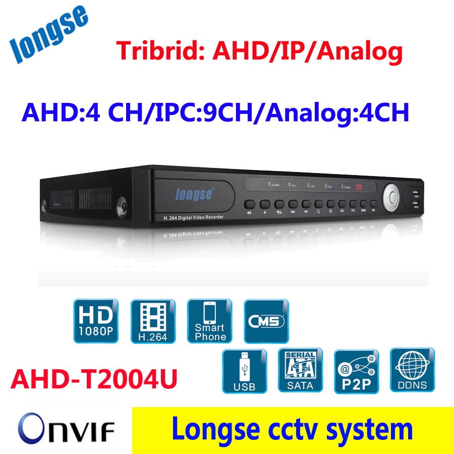 New AHD DVR NVR  4Channel AHD/ 9ch DVR 960H /4ch 1080P NVR 3in1 Video Recorder For AHD/Analog/IP Camera Mobile<br><br>Aliexpress