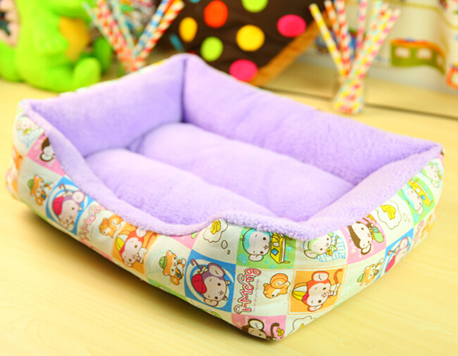 Pet products.pet mats dog beds Pet bed and house.Dog printing fashion square shape bed(China (Mainland))