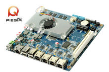 4 lan mini itx tablet motherboard fanless motherboard scrap with D2550 1.86GHZ processor DDR3 2GB Onboard