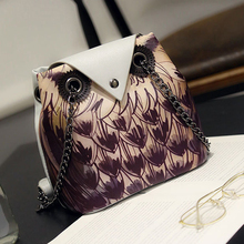 The 2016 summer new personalized Korean women owl printing chain Shoulder Messenger small package free shipping